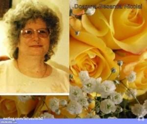 Doamna Desanca Nicolai si trandafiri galbeni