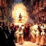 Incredibila procesiune religioasa de pe strazile unui oras din Spania: a aparut de nicaieri si a disparut la fel!